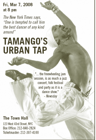 Tamango's Urban Tap at The Town Hall, NYC
