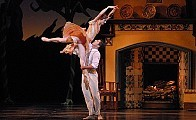 """[Nan Melville for The New York Times]Julie Kent and Marcelo Gomes as Cinderella and Prince Charming in the American Ballet Theater production of """"Cinderella"""" at the Metropolitan Opera House."""