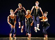 """The dancers in a rehearsal of """"Arrantza"""" at the Morrison Center for the Performing Arts at Boise State University. [Credit: Andrea Mohin/ The New York Times]"""