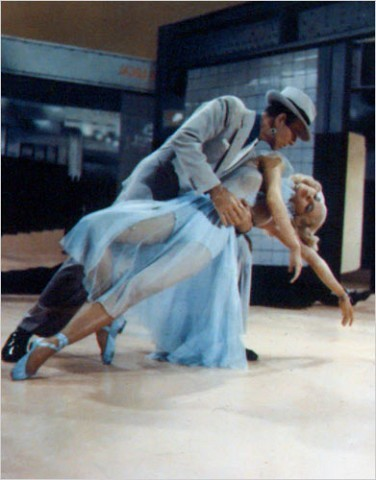 """[Photo: Film Forum/Photofest]Remembering Cyd CharisseHere in """"The Band Wagon"""" with Astaire. She said her husband, the singer Tony Martin, could always tell with whom she was dancing. """"If I was black and blue,"""" she said, """"it was Gene. And if it was Fred, I didn't have a scratch."""""""
