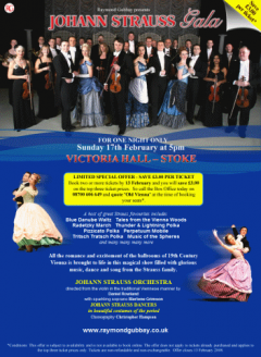 Johann Strauss Gala at Victoria Hall, Stoke-on-Trent