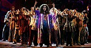 "Sasha Allen, center, as Dionne, in the Broadway revival of ""Hair."" [Sara Krulwich/The New York Times]"