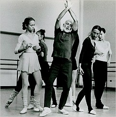 """[New York City Ballet Archives]Jerome Robbins rehearsing """"The Concert"""" (1956) with members of the New York City Ballet, where his legacy remains strong."""
