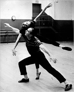 [Martha Swope]George Balanchine in 1958, when he was ballet master in chief of the New York City Ballet, working with Maria Tallchief.