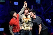 """BEST MUSICALFrom left, Stark Sands, John Gallagher Jr. and Michael Esper in """"American Idiot.""""[Credit: Sara Krulwich/The New York Times]"""