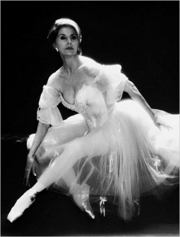 """[Photo: Associated Press]In 1992, she made her Broadway debut in """"Grand Hotel, The Musical,"""" playing, not surprisingly, an aging ballerina."""