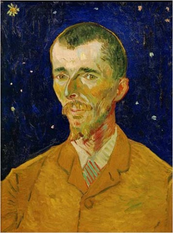 "[Photo: Musée d'Orsay, Paris, Reunion des Musées Nationaux/Art Resource] Vincent van Gogh (1853-1890) ""Eugène Boch (the Poet)"""