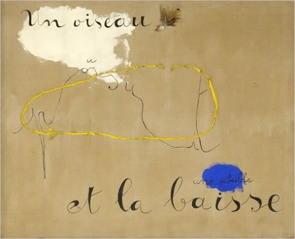 """[Photo: Metropolitan Museum of Art, Artists Rights Society (Ars), New York/Adagp, Paris] Joan Miró (1893-1983) """"Un Oiseau Poursuit Une Abeille Et La Baisse,"""" 1927"""
