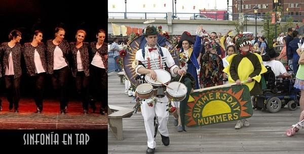 Sinfonía en Tap 2008 [Foto Antonio Fresco] y la Summersday Mummers