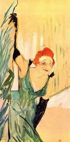 Henri De Toulouse-Lautrec (1864-1901)Yvette Guilbert salut a public48 × 28 cm (18.9 × 11 in)gouache on cardboard1894Musée Toulouse Lautrec