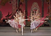 "Sara Mearns, center, as Dewdrop in the New York City Ballet production of ""The Nutcracker,"" at the David H. Koch Theater. [Paul Kolnik/New York City Ballet]"