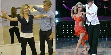 """[ABC]Jennie's husband likes what he sees/ Jennie Garth wasn't the only one stoked about her hot new bod after a season of """"Dancing With the Stars."""" Her hubby, Peter Facinelli, dug it too./ """"I said it's like I got a new car,"""" Peter told """"Access Hollywood.""""/ Jennie censored her hot-and-bothered husband by covering his mouth and reprimanding him. """"This is a family show."""