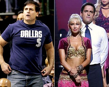 """[Associated Press, ABC]Mogul makeover/ Business tycoon Mark Cuban may not have won the final prize on """"Dancing With the Stars,"""" but he did win one thing: a hot new body./ """"I'm down 34 pounds,"""" Mark told OK!. """"I was about 225. Now I'm at 191. It's incredible. My wife is grabbing my arms now, feeling my stomach."""""""