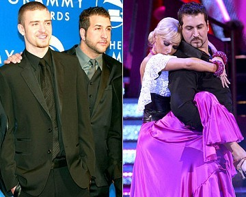 """[ReutersABC]Who you calling 'fat one'?/ Joey Fatone has an unfortunate name. He was dubbed the """"fat one"""" of 'NSync. """"My big problem is I'm Italian and I love to eat my pasta,"""" he told People./ Determined to be the """"fat one"""" no longer, Joey ditched the pasta and signed up for NutriSystem and """"Dancing With the Stars."""" His new diet, coupled with five-hour rehearsals for """"DWTS,"""" helped him drop from 239 pounds to 219 pounds."""