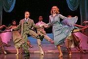 """David Hyde Pierce as Lieutenant Frank Cioffi and Jill Paice as Niki Harris in the musical """"Curtains,"""" which opened on Broadway at the Hirschfeld Theater."""