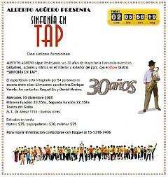 Sinfonía en Tap el Miercoles 10 Diciembre 2008, Dos Únicas Funciones (Alejandro Lapeyre)