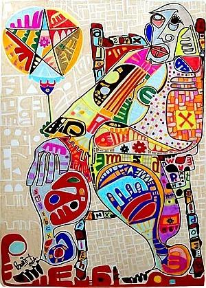 Pablo Di Masso ABUEGLOBO 2006 70 x 100 cm