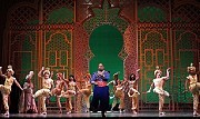 Disney's AladdinJames Monroe Iglehart (center) as the Genie with the company of The 5th Avenue Theatre's production of Disney's Aladdin.[Photo: Chris Bennion]