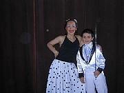 Alejandra Roldán y su hijo Lucas ..., backstageSHOW COREOGRAFICO MUSICAL CREADO Y DIRIGIDO POR KARINA ROLDAN,Jueves 21 de diciembre de 2006, Teatro del Globo, Capital Federal