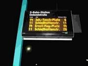 Carteles electrónicos en cada parada que avisan cuánto falta para que pase cada línea de ... ¡tranvía!