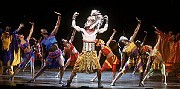 "Josh Tower, center, as Simba in ""The Lion King."" [Joan Marcus]"