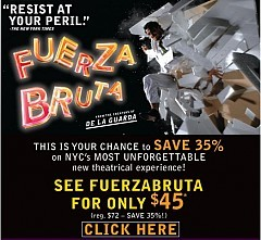Fuerza Bruta at Daryl Roth Theatre