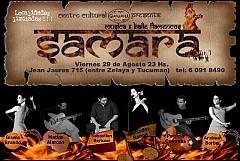 Samara, Música y Baile Flamencos, el Viernes 29 Agosto