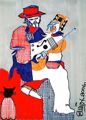 Pablo Di Masso GATO CON VIOLÍN 2006 10 x 15 cm