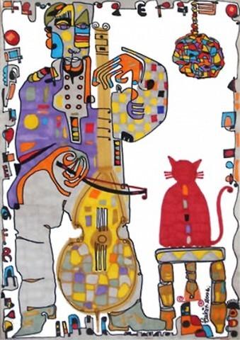 Pablo Di Masso Gato Rojo 2006 21 x 30 cm