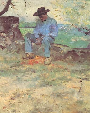 Henri de Toulouse-LautrecFrench, 1864 - 1901Le Jeune Routy à Céleyran, 1882Current Location: Musée Toulouse-Lautrec