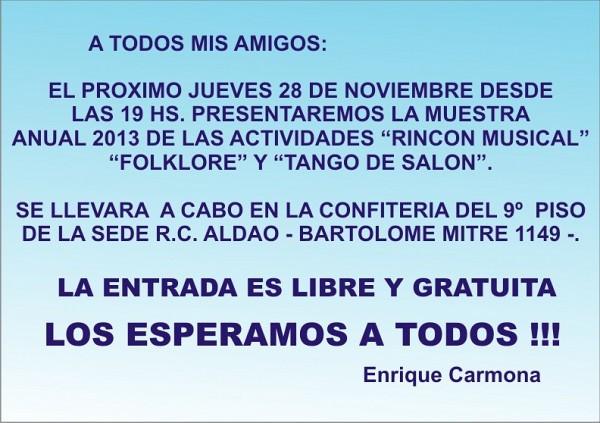 INVITACION GALAS 2013