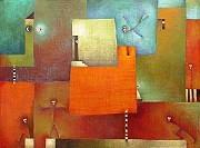 Antonia GuzmánLOS ARRIBOSAcrílico sobre tela50 x 68 inchesEnero 2004