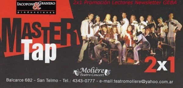 Master Tap 2x1 (Paula Sempé)
