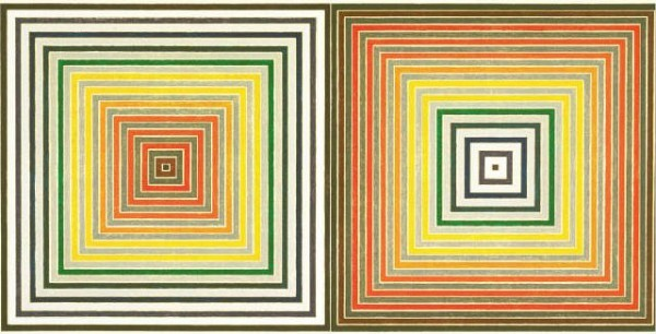 [MUSEUM OF MODERN ART] DOUBLE TIME Frank Stella's 'Double Gray Scramble' (1973) is part of MoMA's new exhibit 'Geo/Metric: Prints and Drawings from the Collection.'