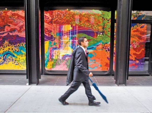 [KONRAD FIEDLER]STREET ART Blank since 2005, the windows of The Modern restaurant at the Museum of Modern Art are now home to an installation by the Brazilian artist collective Assume Vivid Astro Focus. A related article is on page 9.