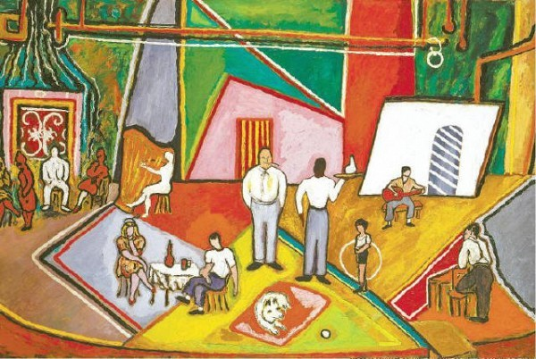 [ESTATE OF BEAU FOR D DELANEY; COURTESY OF MICHAEL ROSENFELD GALLERY]LIVING IT UP Beauford Delaney's 'The Time of Your Life' (1945), a detail of which is above, is part of the Michael Rosenfeld Gallery's new exhibit.