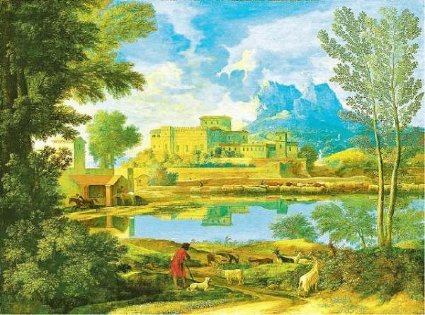 [METROPOLITAN MUSEUM OF ART]Nicolas Poussin (1594-1665), 'Landscape with a Calm' (undated).