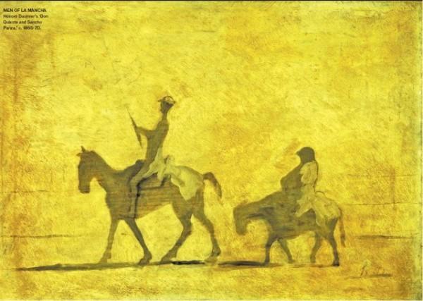 [CHRISTIE'S IMAGES/CORBIS]MEN OF LA MANCHA Honoré Daumier's 'Don Quixote and Sancho Panza,' c. 1865–70.