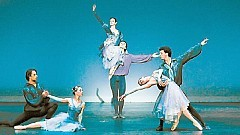 [J A C K V A R T O O G I A N] ABOVE THE REST The State Ballet of Georgia with Nina Ananiashvili, center, in 'Bizet Variations.'