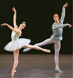 [PAUL KOLNIK]A TEST OF TEMPI Ashley Bouder and Andrew Veyette in 'Raymonda Variations.'