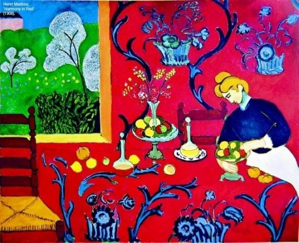 Henri Matisse, 'Harmony in Red' (1908).