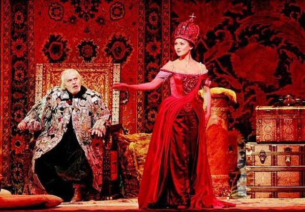 [MARTY SOHLMETROPOLITAN OPERA]LADY IN REDNikolai Putilin as Mazeppa and Olga Guryakova as Maria in Tchaikovsky's 'Mazeppa,' which had its Metropolitan Opera premiere on Monday.