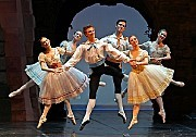 """Royal Danish Ballet at the Koch TheaterMembers of the company in the third act of """"Napoli"""" (1842), by the Danish choreographer August Bournonville.[Credit: Andrea Mohin/The New York Times]"""