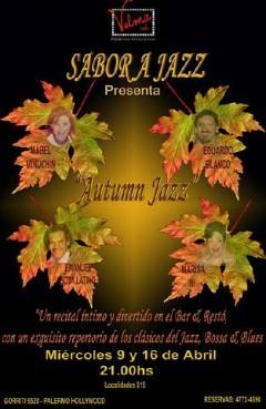 Autumn Jazz los Miercoles 9 y 16 de abril Velma Café (Emanuel Sota Latino)