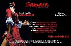 Samara, Música y Baile Flamenco, Sábado 3 de Mayo en La Guapachoza (Patricio Contreras)