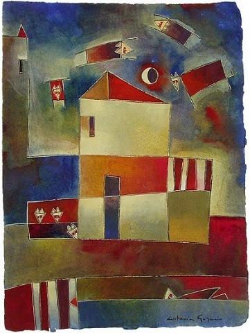 Antonia GuzmánSUEÑO DE GRANJEROAcuarela sobre papel 30,5 x 22,5 cmFeb 2003