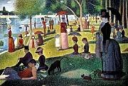 Georges Seurat, French (1859-1891), Un dimanche après midi al'Ille de la Grande Jatte (1884-86)