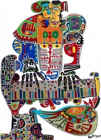 Pablo Di Masso Pianola 2006 50 x 70 cm