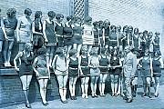 [Bettman/Corbis] Florenz Ziegfield, in an undated photo from the 1920s, looking over beauty contestants.