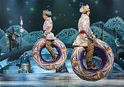"""[Sara Krulwich/The New York Times]A scene from """"Wintuk,"""" a new show from Cirque du Soleil that is having its world premiere"""